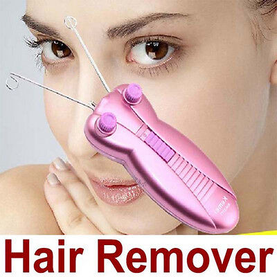 Electric Electronic Eyebrow Epilator Face Body Hair Remover With Cotton Thread
