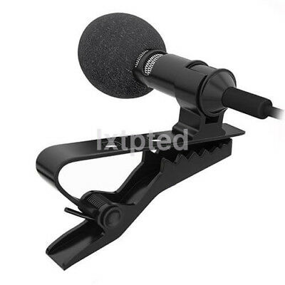 Clip-on Lapel Mini Lavalier Mic Microphone For iPhone SmartPhone Recording PC A~