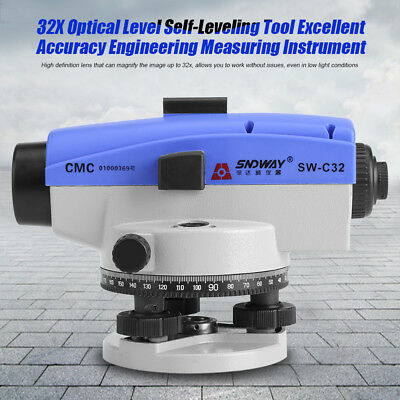 SW-C32 32X Automatic Auto Level Optical Engineering Leveling Measure Tool w Case