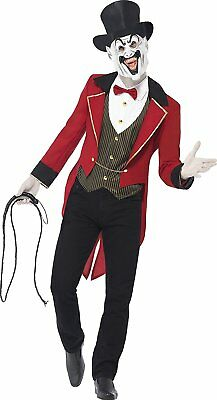 Smiffy's Adult men's Sinister Ringmaster Costume, Jacket, Mock Shirt, Mask and T