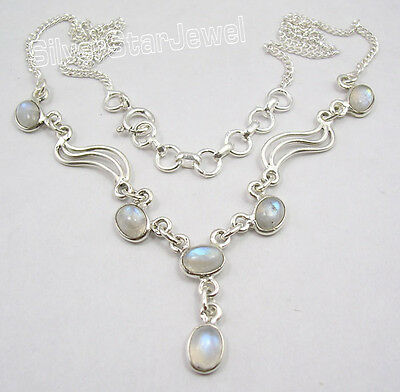 925 Pure Silver DESIGNER Necklace ! Traditional Affordable Wedding Jewelry NEW