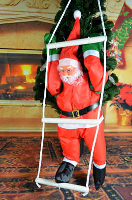 40cm Santa Claus Climbing on Rope Ladder Outdoor Xmas Christmas Tree Decoration