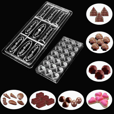 14 Styles 3D Polycarbonate Clear Chocolate Mold Candy Jelly Cookie Cake Mould