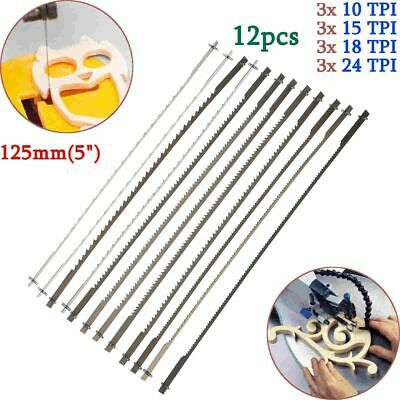 """12x 5"""" (127mm) Pinned Scroll Saw Blades Woodworking Power Tools Accessories"""