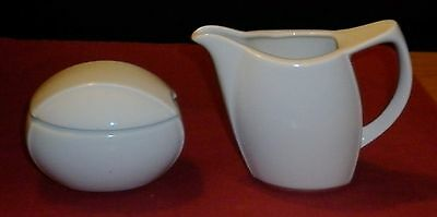 Vintage German Porcelain  Funky Milk And Sugar Great Condition