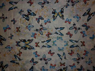 Vintage  Sheer  Long Butterfly Motif Scarf Good Condition