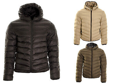 e1ea27edf7fb0 Men's Hooded Puffer Quilted Padded Bomber Jacket Parka Coat S,M,L,XL