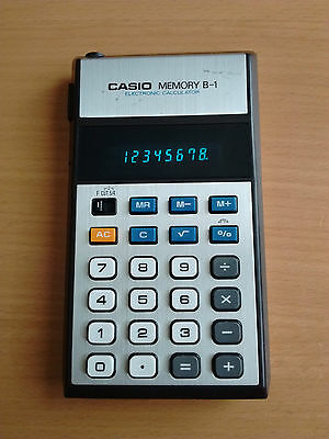 Casio Memory B-1 Vintage Electronic Calculator