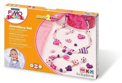 Fimo Hearts 32-Parts Kids Create and Play Jewellery Modelling Set, Multi-Colour
