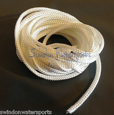 Nylon Braided Cord Twine Rope White 1.3mm 2mm 3mm 4mm 5mm 6mm 8mm