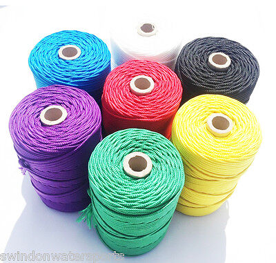 Nylon Braided Cord Twine Rope - 4mm - You choose colour and length