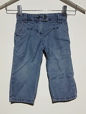 Country Road Boys Jeans Size 8 - 12 Months Blue Adjustable Distressed Denim