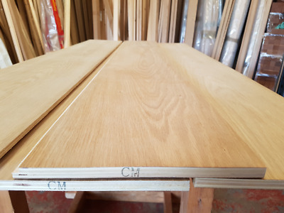 Oak Faced Ply Sheets 1500mm x 230mm x 12mm Dual Faced