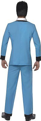 Smiffy's Men's Teddy Boy Costume, trousers, Jacket with Mock Shirt and Tie, Size