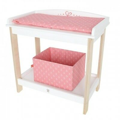 NEW Hape Baby Changing Table - Girls Dolls Wooden Change Table Pretend Play Toy