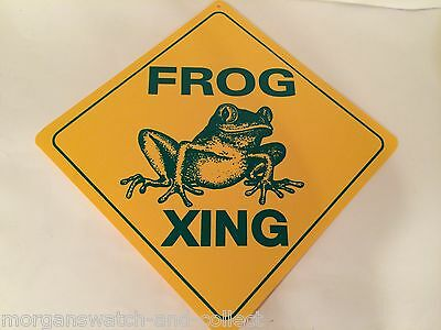 "Frog Xing Sign *NEW* Durable Plastic Crossing Sign 12"" x 12"""