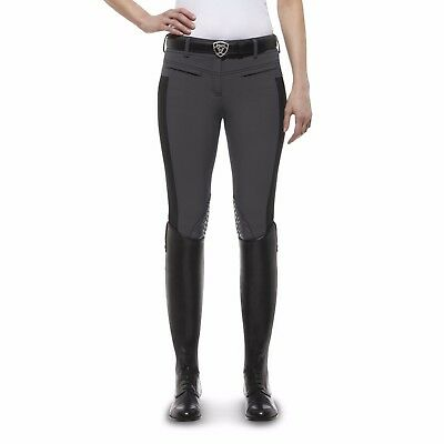*SALE* Ariat Triumph Low Rise Ladies Knee Patch Breeches - Charcoal 30R