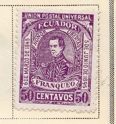 Ecuador 1896 Early Issue Fine Mint Hinged 50c. 170209