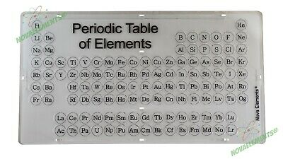 Periodic table of Elements, element collection box, chemistry set with labels