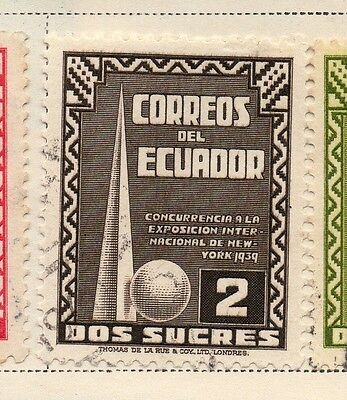 Ecuador 1938-39 Early Issue Fine Used 2S. 170306