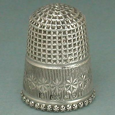 Antique English Sterling Silver Thimble by Charles Horner * Hallmarked 1905