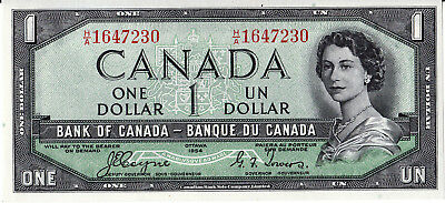 Bank Of Canada  1954 Devil Face $1.00  -Choice  Uncirculated