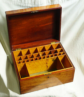 Antique Mahogany Apothecary box with nice fitted interior.