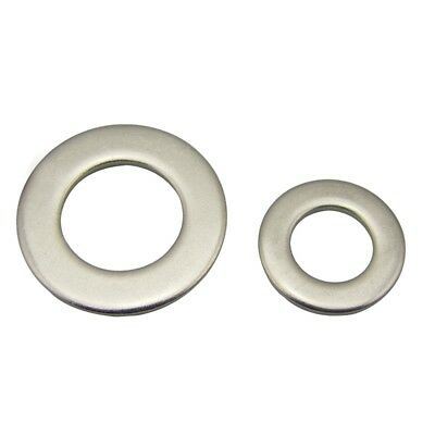 100PCS Flat Washers 304 Stainless Steel M3/4/5/6/8/10/12/14/16 Plain Washer Tool
