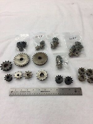 Huge Lot Of 32 Pieces Boston Gear Roller Chain Sprockets And Browning