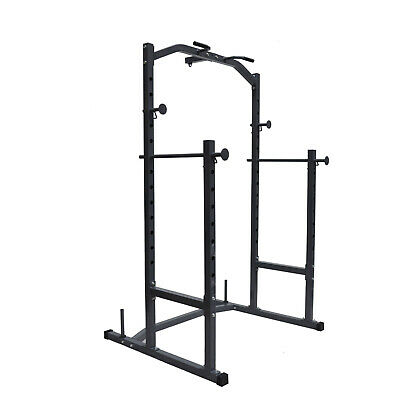 Power Cage Squat Rack Weights Bench Press - Boxing Punching & Kicking - Chin up