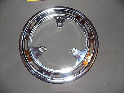 Original genuine NOS Sugino chain guard ring chrome 3 bolt vintage old stock