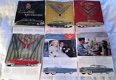 Lot of Cadillac Advertisements from the 1950s and 1946