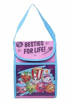 SHIPS FROM USA Shopkins Insulated Lunch Bag box case with carrying handle