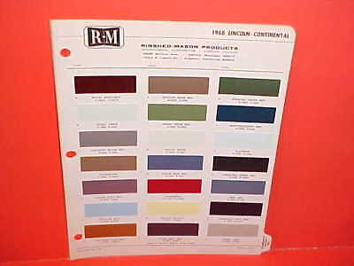 1968 Lincoln Continental Sedan Coupe Ford Thunderbird T-Bird Landau Paint Chips