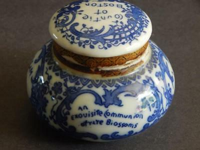 Magda Toilet Cream Jar – Blue and White Porcelain w Ingredients – dated 1906