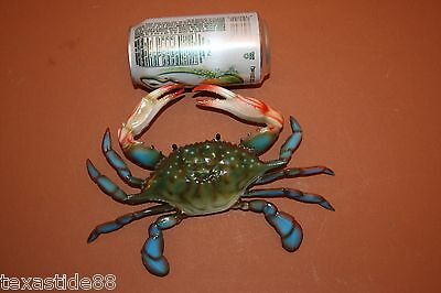 "(10)pcs, FAKE BLUE CRAB DISPLAY, ULTRA REALISTIC FAKE CRAB,SEAFOOD DECOR 9"" CRAB"