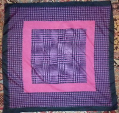 VINTAGE 1980s PURPLE AND PINK CHECK SCARF EXCELLENT CONDITION