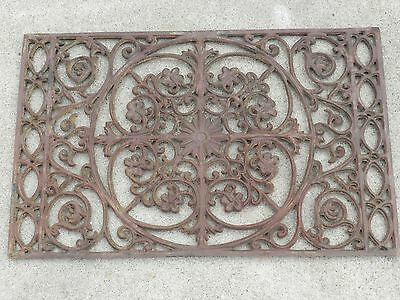 "Antique Vintage Cast Iron Heat Register Grate Vent 27"" x 17 3/4 """