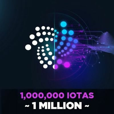 IOTA Cryptocurrency 1Mi  (1,000,000 IOTA) sent to your Wallet FAST