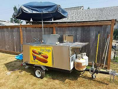 Hot Dog Cart - Hot Dog Stand / Burger Stand - Portable Barbecue / Portable Grill