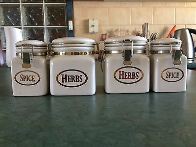 Set of 4 Maxwell & Williams Spice Jars