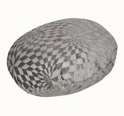 wg06g Gray Brown Geometric Check Throw Bolster Pillow COVER Neck Roll CASE *Size