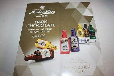 Anthon Berg Liquor Filled Dark Chocolate 64 Pieces 1kg bulk gift box
