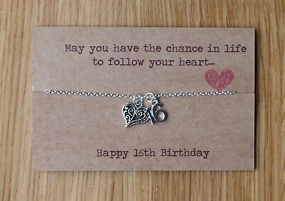 16th 18th 21st Birthday Gift Necklace For Best Friend Daughter Sister