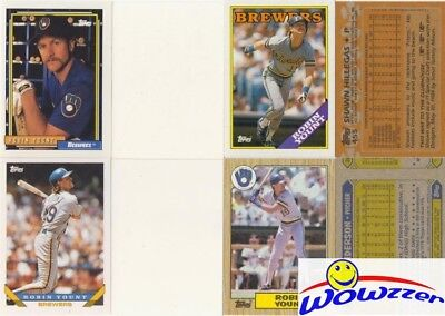 Rare Lot of (13) Different Topps Robin Yount ERROR CARDS from 1987-1992!