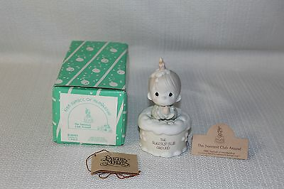 Cute Enesco Precious Moments 1988 The Sweetest Club Around Birthday Figurine IOB