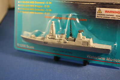 HMS DUNCAN D37 Type 45 Daring Class destroyer on card Triang Minic Ships.
