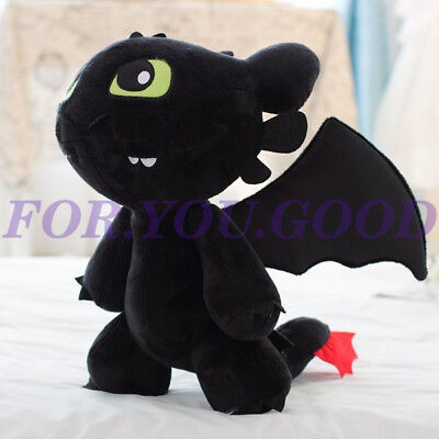 "Cute 12"" How to Train Your Dragon Plush Toothless Night Fury Soft Toy Doll"