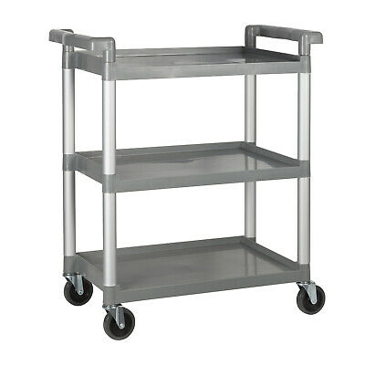 Winware by Winco UC-35 3 Tier Utility Cart Color Gray