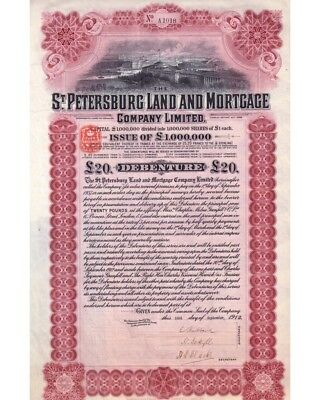 St. Petersburg Land and Mortgage Company 20 Pound 09/1912